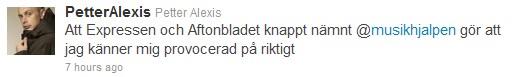 scrndmp petter twitter Musikhjälpen 2010