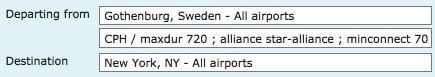 Flyg från Göteborg till New York med Star Alliance.